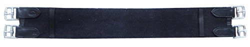 Reitsport Amesbichler AMKA Sattelgurt Baumwolle Kurzgurt, schwarz, 40 cm lang