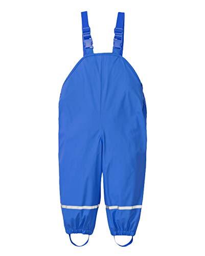 PIZOFF Unisex Kinder Jungen Regenlatzhose, Wind- und wasserdichte Matschhose Regenhose 01130137XBlue+XL