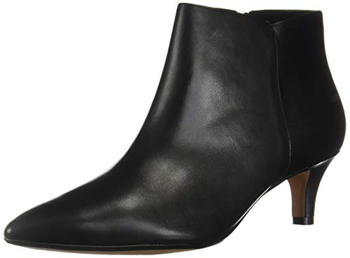 CLARKS Women's Linvale Sea Dress Boot Fashion, Black Leather, 50 M US
