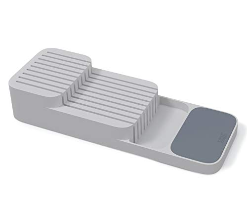 Joseph Joseph 85120 DrawerStore Kitchen Drawer Organizer Tray for Knives Knife Block Gray