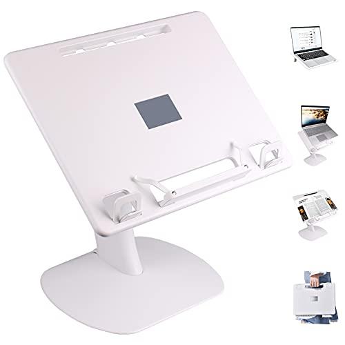 Portable Laptop stand,Adjustable Ergonomic Laptop Holder Stand Compatible with MacBook/Laptop/Tablet,Multi-use Book/Sheet Music/Cookbook Stand for Desk,Lab Desk for Bed,Sofa,Car,Transportation,Outdoor