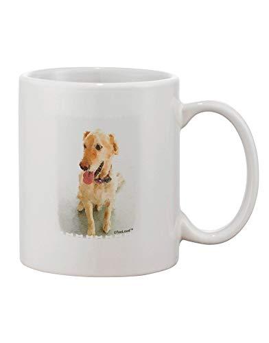 N\A Taza de café con Estampado de Acuarela de Golden Retriever