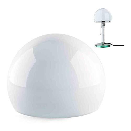 Ersatzglas für WA24 / WG24 Wagenfeld Leuchte, Bauhaus Klassisch Tischleuchte Lampenschirm, Rund, Weiß, Ohnen Glühbirne, 180 x 135mm