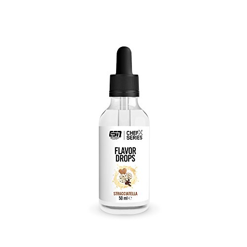 ESN Flavor Drops – 50ml – Stracciatella – Kalorienfreie Aromatropfen – Vegan – Made in Germany