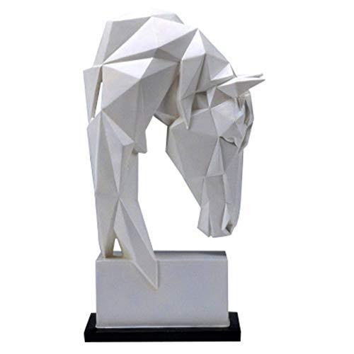 Figuras,Estatuas,Estatuillas,Esculturas,Estudio Creativo Ornamento Imitación De Geometría Origami Manualidades De Colofonia De La Cabeza De Un Caballo De Salón Dormitorio Librero Escritorio Regalo
