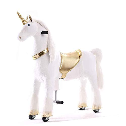 Gidygo Ride On Pony Walking Horse Plush Toy for Children Action Pony Horse Ride on Pony Horse for Age 5 to 12 Years or Up to 110 Pounds