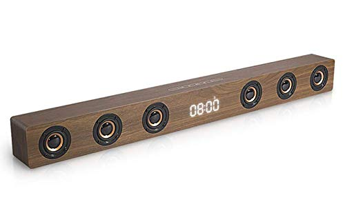 Speaker-EJOYDUTY 30W Hallo-FI Stereo HDMI Sound Bar für TV, Holz- Bluetooth Heimkino-Lautsprecher für PC/Laptop/Handy/Tablets,A