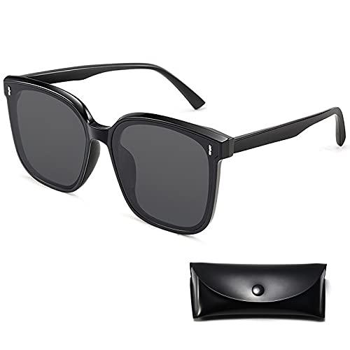 KiAKUO Gafas de sol polarizadas UV400 con montura TR90, polarizadas, para hombres, mujeres, ligeras, polarizadas, para conducir, esquí, golf