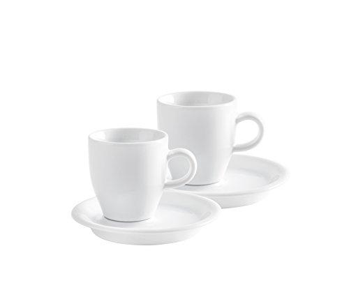 Espresso Doppio Set 4 teilig Café Sommelier 2.0 in weiß, 50 ml