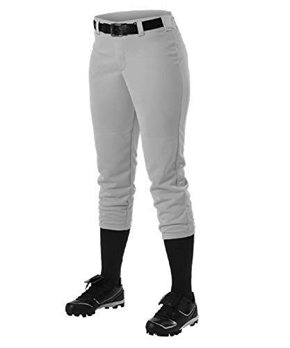 Alleson Ahtletic Damen Fastpitch/Softball Gürtelschlaufe Hose, Damen, grau, X-Large
