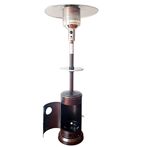 LXING Gas Heater Outdoor Liquefied Gas, Natural Gas Heater Garden Tall Outside Outdoor Heater with Wheels Cover Convenient and Practical Gas Heater for Garage