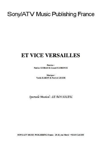 ET VICE VERSAILLES (partition)