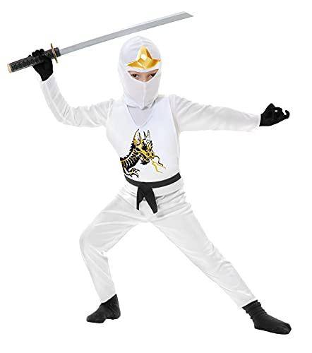 Charades Costume de ninja Avengers Series II pour enfant Blanc Taille M
