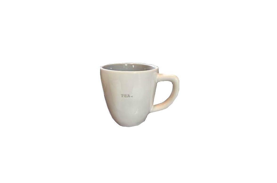 円形狼悪党Rae DunnマゼンタセラミックLarge Coffee Tea Mug CupタイプライターTea。?–?クリーム/ライトグレー
