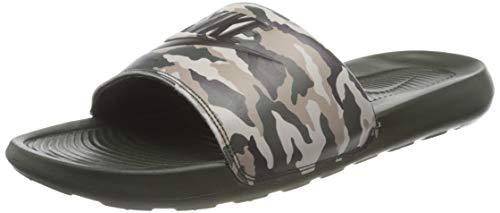 Nike Victori One Slide Print, Sandal Hombre, Sequoia/Sequoia-Desert Sand-Cargo Khaki-Stone, 41 EU
