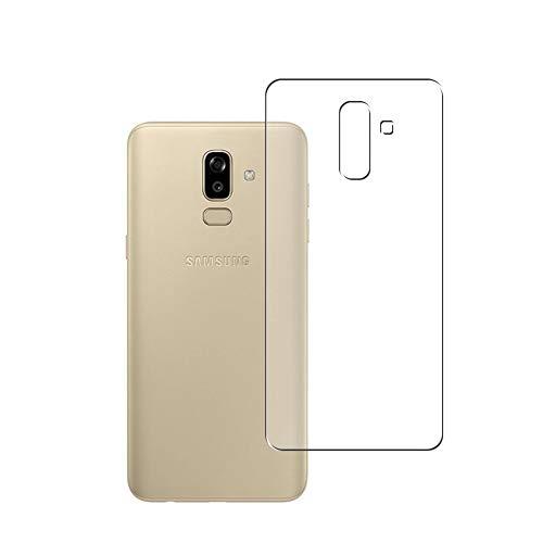 Vaxson 2 Unidades Protector de pantalla Posterior, compatible con Samsung Galaxy J8 2018 [No Vidrio Templado] TPU Película Protectora Espalda Skin Cover