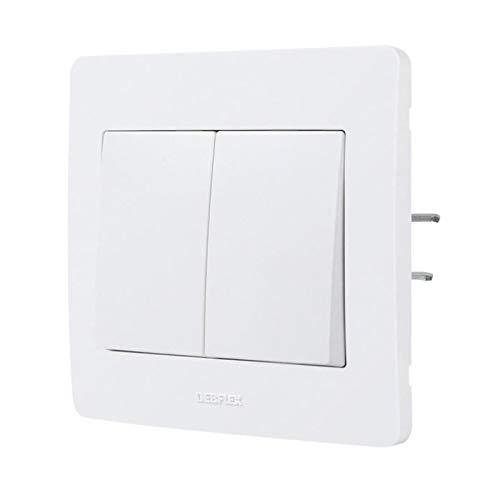 Debflex 739150 Double Interrupteur/Va et Vient - Gamme DIAM2 - Appareillage encastré - Blanc