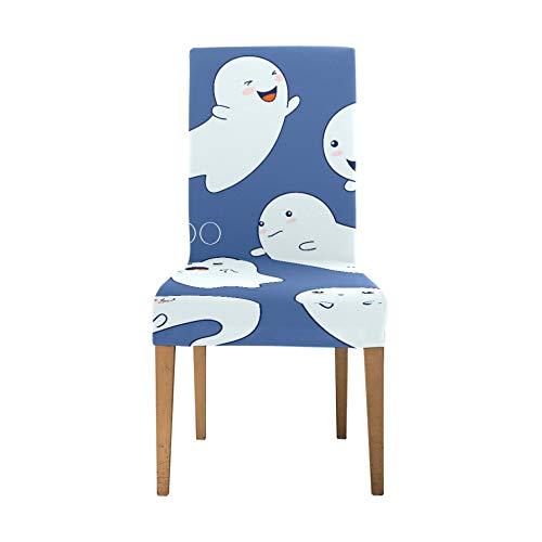Stuhlsitzbezüge Coole Halloween Creep Fun Ghost Esszimmerbezüge Stühle Soft Stretch Stuhlbezüge für Wohnzimmer Waschbare abnehmbare Stuhlbezüge für Esszimmer Home Party Hotel Hochzeit