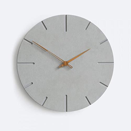 Moderne Lautlose Design MDF Wanduhr 30cm Minimalistisch für Wohnzimmer Schlafzimmer Wand Uhr Grau Beton Optik (Grau 1, 30 cm)
