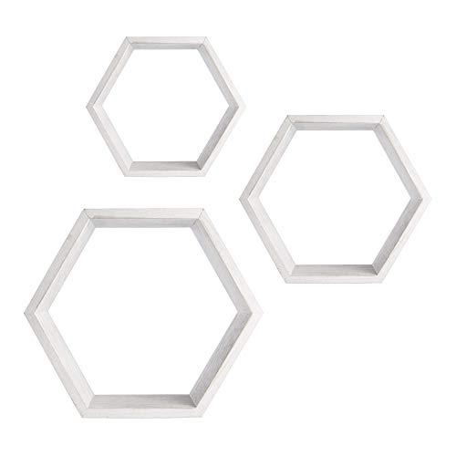 estanterias hexagonales blancas