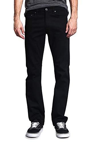 Victorious Men's Slim Fit Colored Jeans GS21 - Jet Black - 34/30