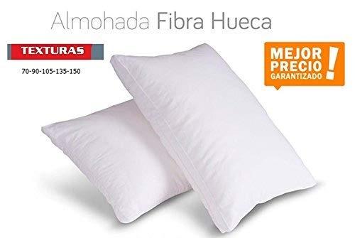 TEXTURAS HOME - Unic Almohada Fibra Hueca ANTIALÉRGICA Blanco Poliéster 100% Economy (70_x_40_cm)