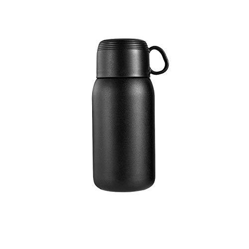 AbesterTazas y tazas termo portátiles termo de acero inoxidable 304 tapa de la botella de agua termo de café para niños y niñas-Negro 260ml