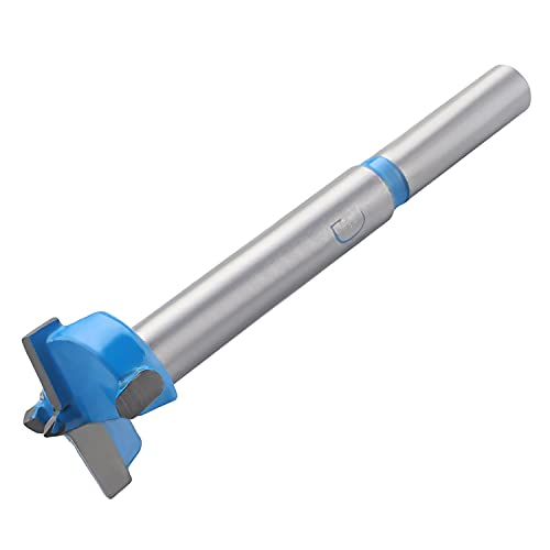 Hegebeck - Broca Forstner de 21 mm con vástago redondo para madera azul para carpintería, sierra perforadora, herramientas...
