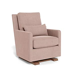 Monte Design Upholstered Modern Nursery Como Glider Chair, Blush