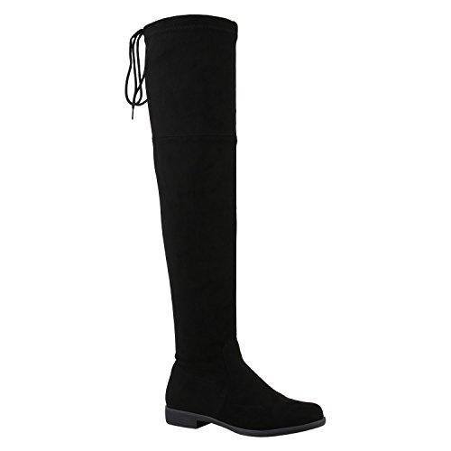 Klassische Damen Stiefel Quasten Stylisch Schuhe 127551 Schwarz Carlton 38 Flandell