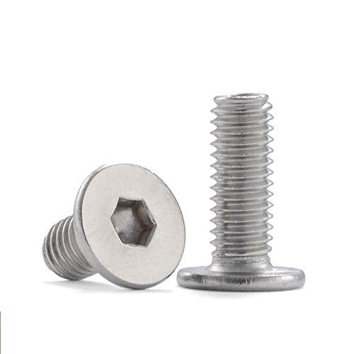 Tornillo hexagonal de cabeza fina de acero inoxidable Tornillo de cabeza plana de cabeza grande-M4x30 * 20 piezas