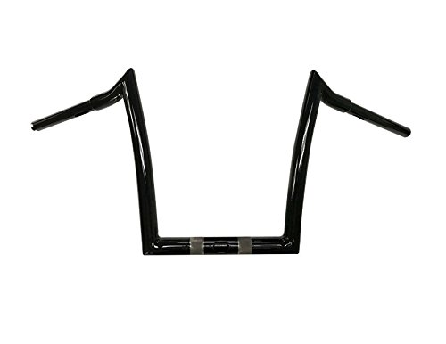 Dominator Industries 1 1/4 Inch Road Glide Meathook Ape Hanger Handlebars, 10 Inch Rise, Gloss Black Compatible With 2015-2019 Road Glides