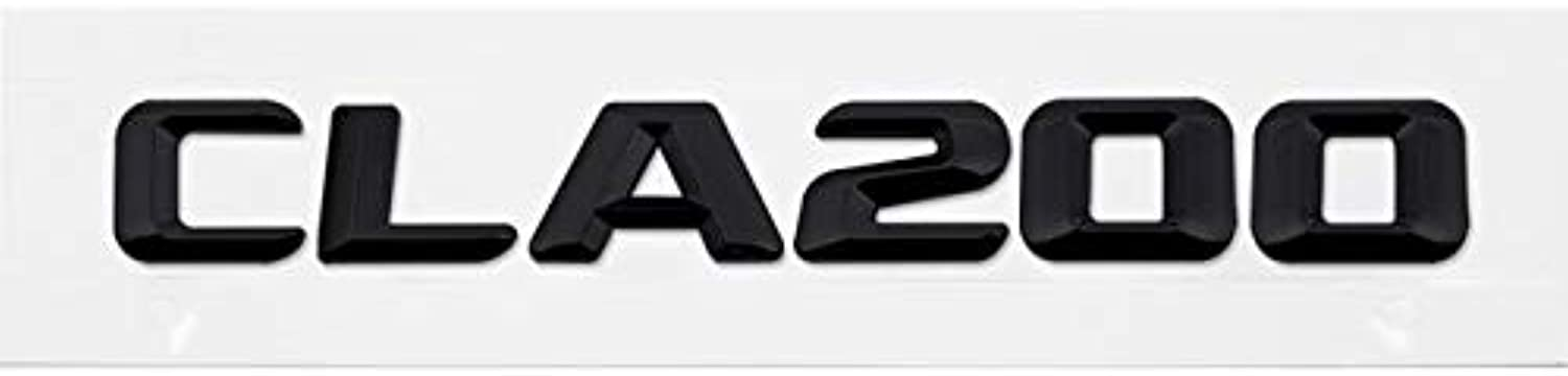 For Mercedes Benz CLA CLA45 CLA180 CLA200 W204 W164 CarStyling Rear Sticker Black Emblem Decal for Mercedes Benz Letter Sticker  (color Name  CLA200 Black, Size  Metal)