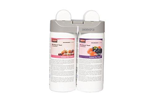 Rubbermaid Microburst Duet Nachfüllset für Raumlufterfrischer, Sorten Sparkling Fruits und Cotton Berry