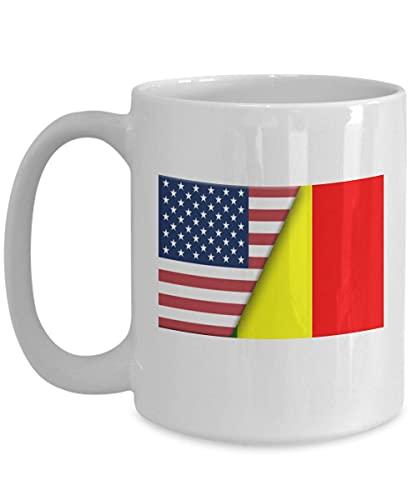 Kaffeetasse mit USA-Mali-Flagge, Weiß