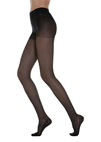 MANIFATTURA BERNINA Elite 4082 (talla 3 negro) - Pantimedias de compresión graduada para mujer 140 Denieres