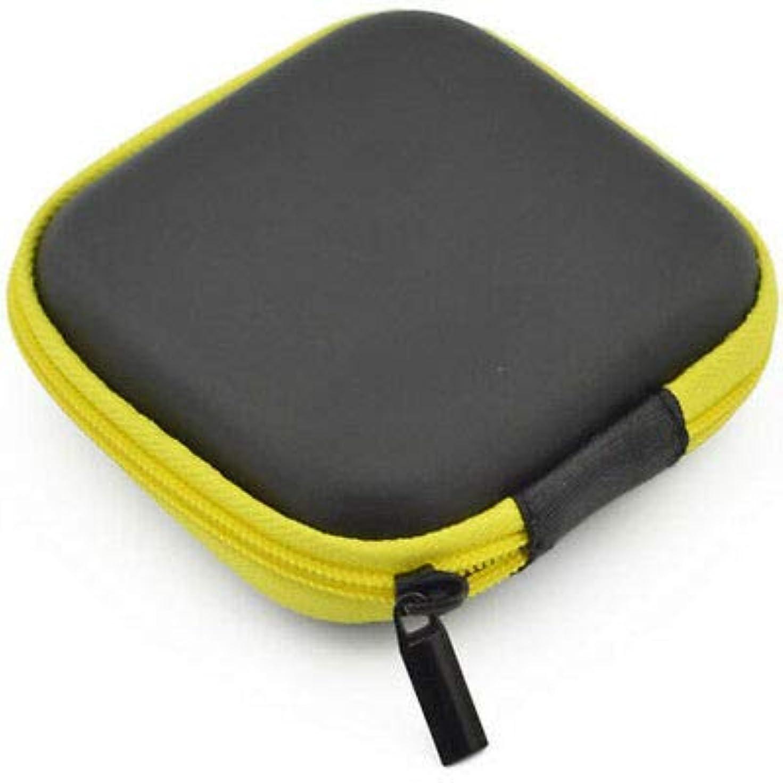 振動する果てしない褒賞FidgetGear イヤホンイヤホンヘッドホンSD TFカードMP3 USBミニ収納ポーチケースバッグボックス 黄