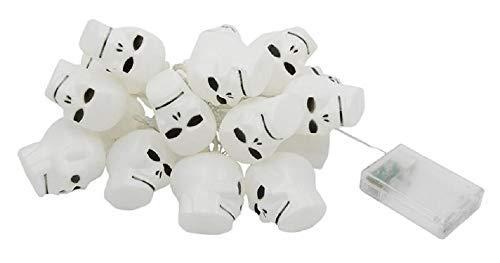 Inception Pro Infinite 16 luces de Halloween calaveras - 320 cm - Alimentadas por pilas - Luces - LED - Decoración - Interior - Exterior - Calabazas Naranjas - Adornos - Guirnalda