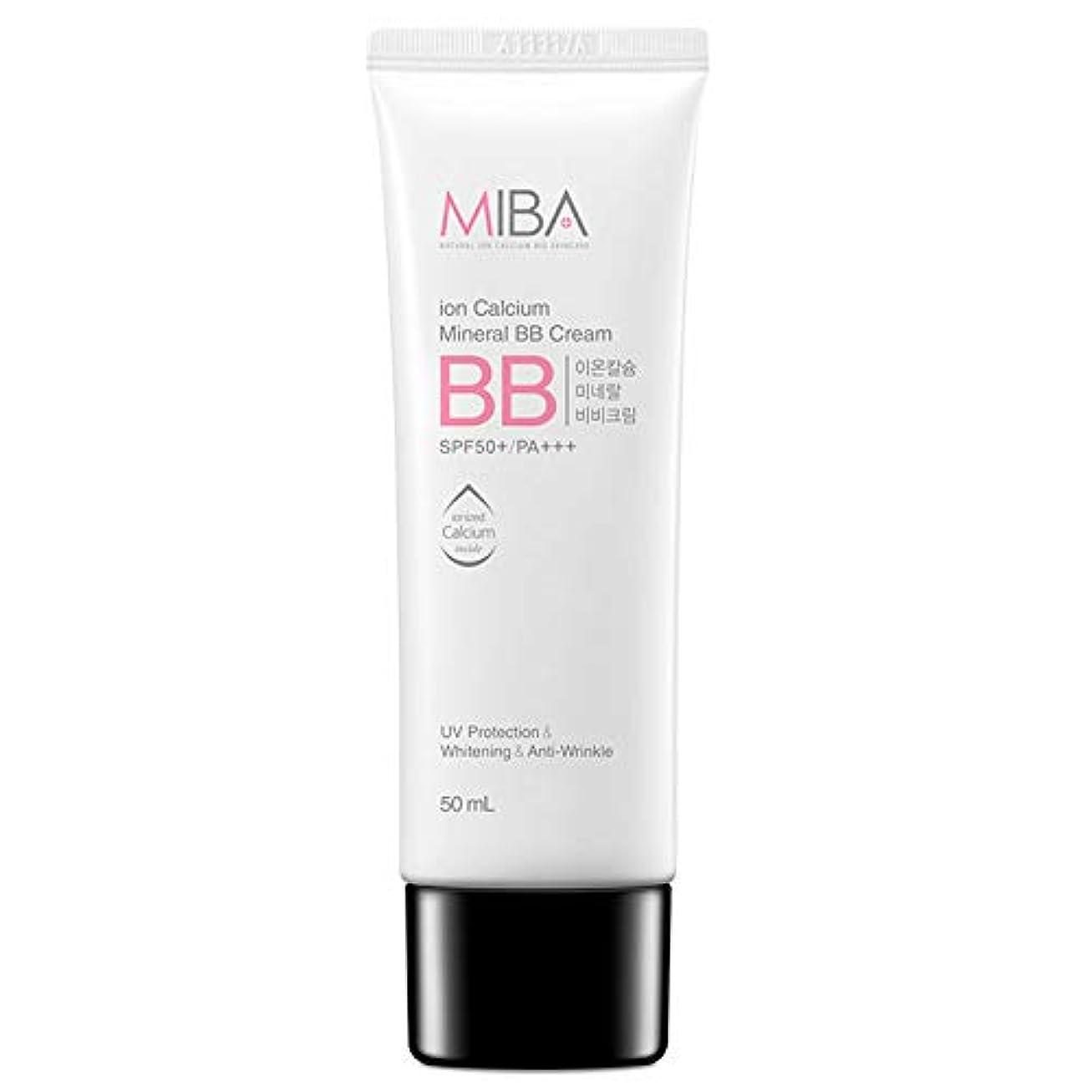 ペルメル一回カリキュラムスキンDr ミバ IC ミネラルBBクリーム SPF50+/ PA+++ / MIBA Ion Calcium Mineral BB Cream [正規品]
