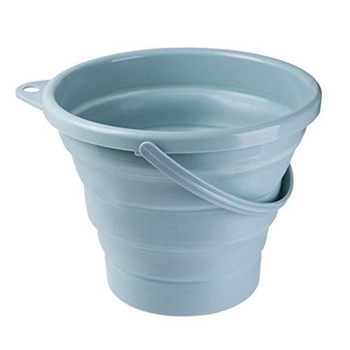 折りたたみバケツ 大容量5L/10L 洗い桶 たらい 釣り用バケツ 掃除 洗濯 アウトドア 車載バケツ 生活用品 多機能 便利 キッチン アウトドア 取っ手付き (青い, 10L)