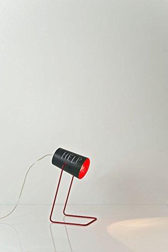 In-es.artdesign IN-ES060014N-R Paint T Lavagna Lampe de Table Noir/Rouge