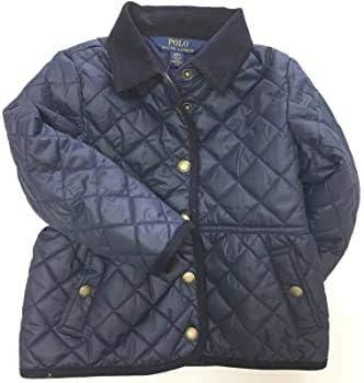 Ralph Lauren Girls Quilted Jacket Coat Navy Blue (4T)