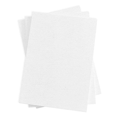 Ultimate White Flat Card - A7 LCI Linen 5 1/8 x 7 80C, 250 Pack