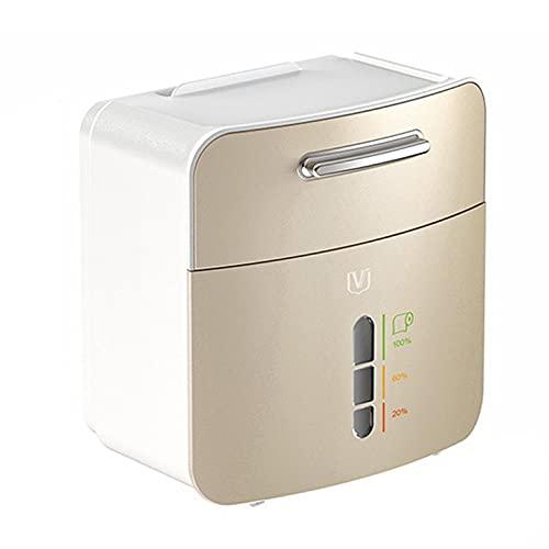 QiKun-Home Soporte de Papel higiénico Soporte de Pared Impermeable para Bandeja de Papel higiénico Rollo de Papel Tubo Caja de Almacenamiento Caja de pañuelos Estante Dorado