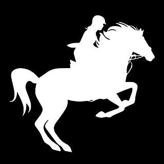 Doppio Cavallo Design per Auto-Styling Riflettente Personalizzato Decalcomanie per Finestrini della Carrozzeria per Auto Motocicletta Bicicletta Laptop Bagagli Bianca Luo-401XX Adesivo per Auto