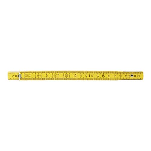 KS Tools 300.0060 Holz-Gliedermaßstab, gelb, 2m