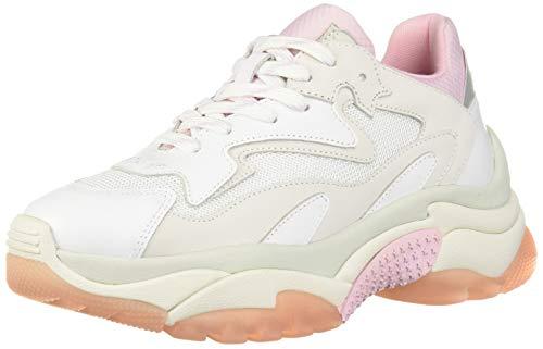 ASH Damen AS-Addict Turnschuh, White Chalk Pink Silver, 40 EU