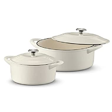 Tramontina Dutch Oven Set, 2-pack off white