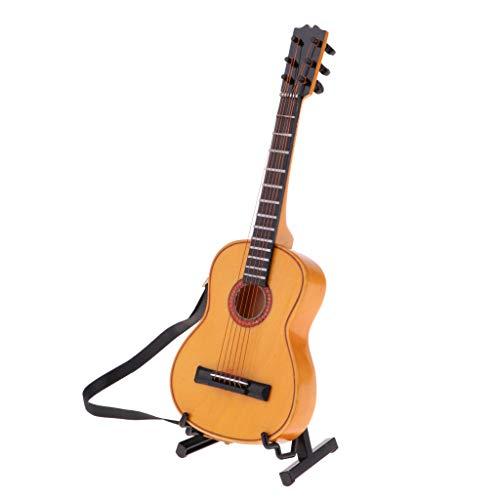 SM SunniMix Guitarra Eléctrica De Madera De 1/6 De Escala con Soporte De Instrumentos - #1