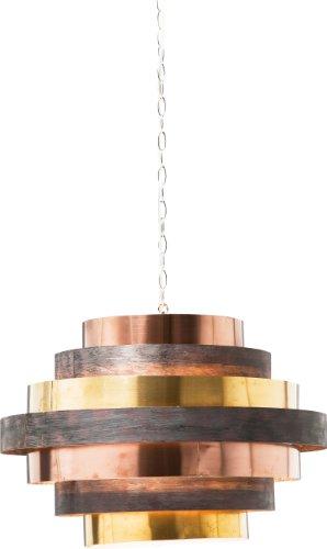 Kare Design Hängeleuchte Belt Round Coffee, Colour- Mix Lampe, Hängelampe gold, Hängeleichte rund, (H/B/T) 42x60x60cm